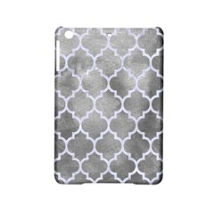Tile1 White Marble & Silver Paint Ipad Mini 2 Hardshell Cases by trendistuff