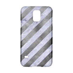 Stripes3 White Marble & Silver Paint (r) Samsung Galaxy S5 Hardshell Case  by trendistuff