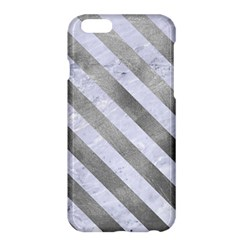 Stripes3 White Marble & Silver Paint Apple Iphone 6 Plus/6s Plus Hardshell Case by trendistuff
