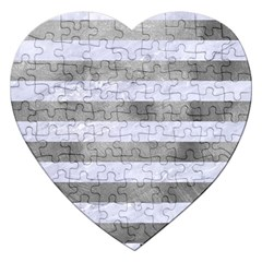 Stripes2white Marble & Silver Paint Jigsaw Puzzle (heart) by trendistuff