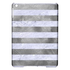 Stripes2white Marble & Silver Paint Ipad Air Hardshell Cases