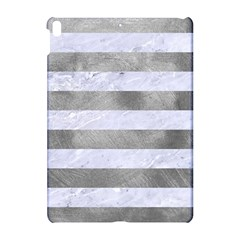 Stripes2white Marble & Silver Paint Apple Ipad Pro 10 5   Hardshell Case by trendistuff