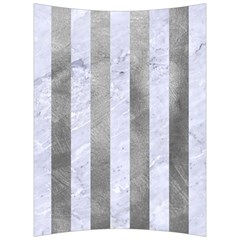 Stripes1 White Marble & Silver Paint Back Support Cushion by trendistuff