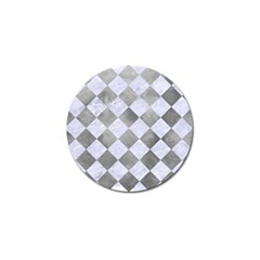 Square2 White Marble & Silver Paint Golf Ball Marker (10 Pack) by trendistuff
