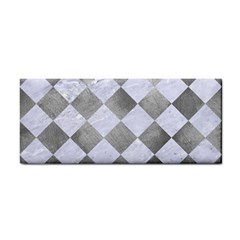 Square2 White Marble & Silver Paint Cosmetic Storage Cases by trendistuff