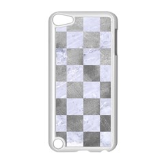 Square1 White Marble & Silver Paint Apple Ipod Touch 5 Case (white) by trendistuff