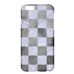 Square1 White Marble & Silver Paint Apple Iphone 6 Plus/6s Plus Hardshell Case by trendistuff