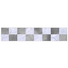 Square1 White Marble & Silver Paint Small Flano Scarf by trendistuff