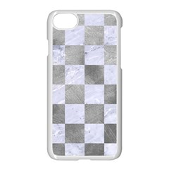 Square1 White Marble & Silver Paint Apple Iphone 7 Seamless Case (white) by trendistuff