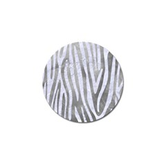 Skin4 White Marble & Silver Paint (r) Golf Ball Marker