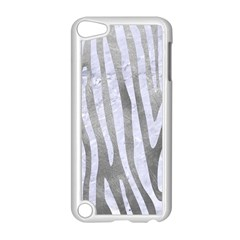 Skin4 White Marble & Silver Paint (r) Apple Ipod Touch 5 Case (white) by trendistuff