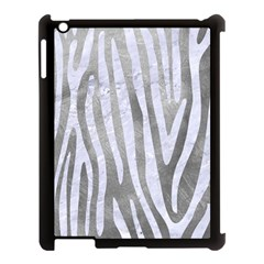Skin4 White Marble & Silver Paint (r) Apple Ipad 3/4 Case (black) by trendistuff
