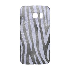 Skin4 White Marble & Silver Paint (r) Galaxy S6 Edge by trendistuff