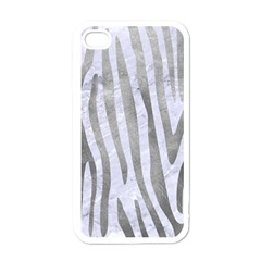 Skin4 White Marble & Silver Paint Apple Iphone 4 Case (white) by trendistuff