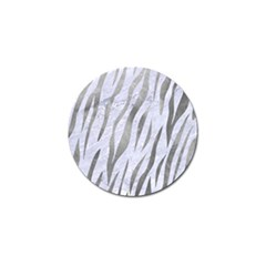 Skin3 White Marble & Silver Paint (r) Golf Ball Marker by trendistuff
