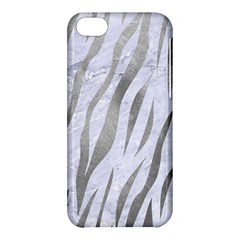 Skin3 White Marble & Silver Paint (r) Apple Iphone 5c Hardshell Case by trendistuff