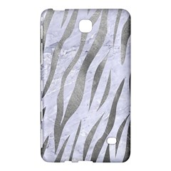 Skin3 White Marble & Silver Paint (r) Samsung Galaxy Tab 4 (8 ) Hardshell Case  by trendistuff