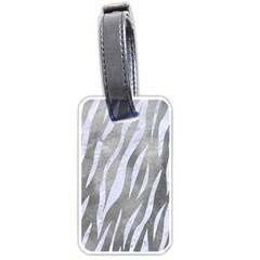 Skin3 White Marble & Silver Paint Luggage Tags (one Side)  by trendistuff
