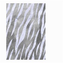 Skin3 White Marble & Silver Paint Small Garden Flag (two Sides) by trendistuff