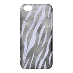 Skin3 White Marble & Silver Paint Apple Iphone 5c Hardshell Case by trendistuff