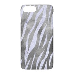 Skin3 White Marble & Silver Paint Apple Iphone 8 Plus Hardshell Case by trendistuff