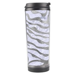 Skin2 White Marble & Silver Paint (r) Travel Tumbler by trendistuff