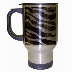 Skin2 White Marble & Silver Paint Travel Mug (silver Gray) by trendistuff
