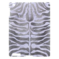Skin2 White Marble & Silver Paint Apple Ipad 3/4 Hardshell Case by trendistuff