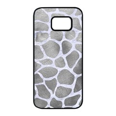 Skin1 White Marble & Silver Paint (r) Samsung Galaxy S7 Edge Black Seamless Case by trendistuff