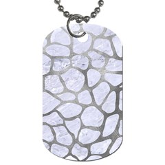 Skin1 White Marble & Silver Paint Dog Tag (two Sides) by trendistuff