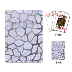 Skin1 White Marble & Silver Paint Playing Card by trendistuff