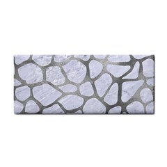 Skin1 White Marble & Silver Paint Cosmetic Storage Cases by trendistuff
