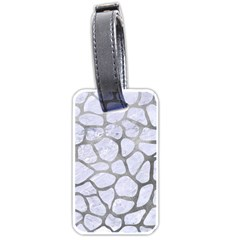 Skin1 White Marble & Silver Paint Luggage Tags (one Side)  by trendistuff