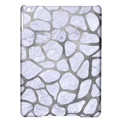 Skin1 White Marble & Silver Paint Ipad Air Hardshell Cases by trendistuff