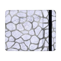 Skin1 White Marble & Silver Paint Samsung Galaxy Tab Pro 8 4  Flip Case by trendistuff