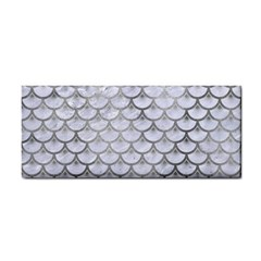 Scales3 White Marble & Silver Paint (r) Cosmetic Storage Cases by trendistuff