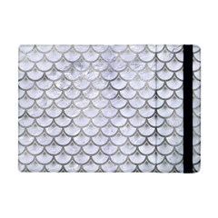 Scales3 White Marble & Silver Paint (r) Apple Ipad Mini Flip Case by trendistuff