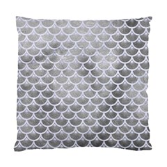 Scales3 White Marble & Silver Paint Standard Cushion Case (one Side) by trendistuff