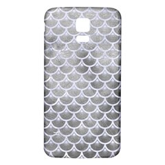 Scales3 White Marble & Silver Paint Samsung Galaxy S5 Back Case (white) by trendistuff