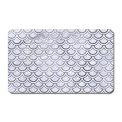Scales2 White Marble & Silver Paint (r) Magnet (rectangular) by trendistuff