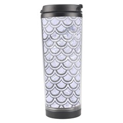 Scales2 White Marble & Silver Paint (r) Travel Tumbler by trendistuff