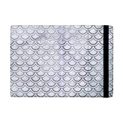 Scales2 White Marble & Silver Paint (r) Ipad Mini 2 Flip Cases by trendistuff