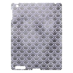Scales2 White Marble & Silver Paint Apple Ipad 3/4 Hardshell Case by trendistuff