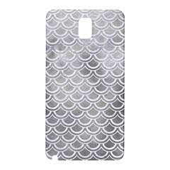 Scales2 White Marble & Silver Paint Samsung Galaxy Note 3 N9005 Hardshell Back Case by trendistuff
