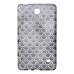Scales2 White Marble & Silver Paint Samsung Galaxy Tab 4 (7 ) Hardshell Case  by trendistuff