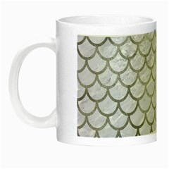 Scales1 White Marble & Silver Paint (r) Night Luminous Mugs by trendistuff