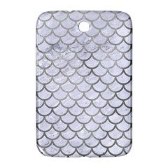 Scales1 White Marble & Silver Paint (r) Samsung Galaxy Note 8 0 N5100 Hardshell Case  by trendistuff