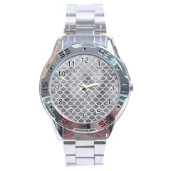 Scales1 White Marble & Silver Paint Stainless Steel Analogue Watch by trendistuff