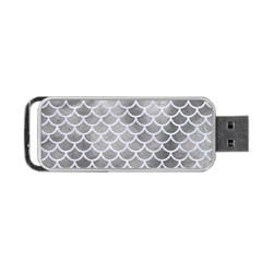 Scales1 White Marble & Silver Paint Portable Usb Flash (one Side) by trendistuff