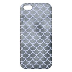 Scales1 White Marble & Silver Paint Apple Iphone 5 Premium Hardshell Case by trendistuff